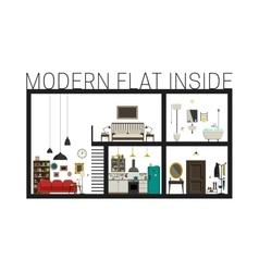 Modern flat in cut vector image