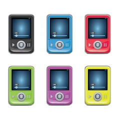 Mp3 Player Set vector image