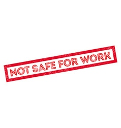 Not safe for work rubber stamp vector