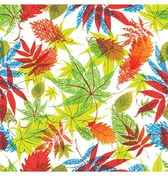 Osen leafs seamless new vector
