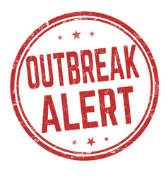 Outbreak area sign or stamp vector