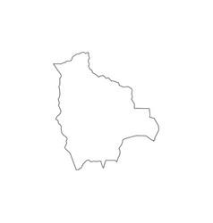 Outline map bolivia simple bolivia border map vector