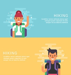 People Leisure Concept Hiking Male Cartoon vector