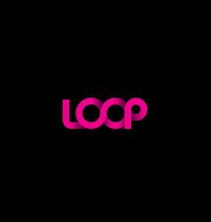 Pink loop logo vector