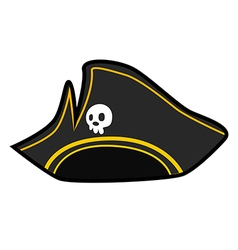 pirate hat vector image vector image