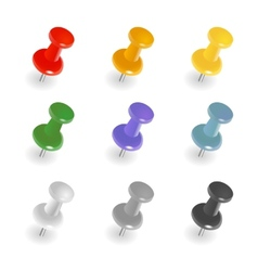 Push pins vector image