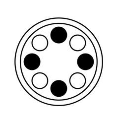 Reel film isolated icon vector