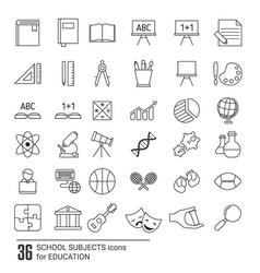School subjects icon set school subjects icon set vector