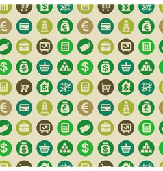 seamless pattern with finance icons vector image