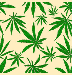 Seamless pattern with marijuana leaves design vector
