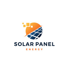 solar panel energy electric electricity logo icon vector image
