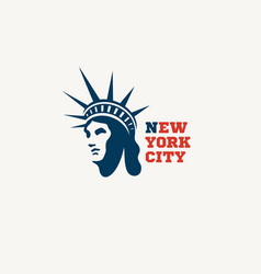statue liberty logo vector image