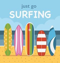 Surfing Travel Landscape vector