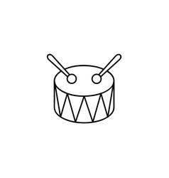 toy drum line icon vector image