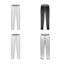 Uniform pants baseball baseball single icon in vector