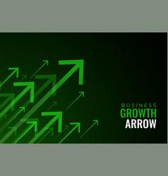 Upward green arrows business sale growth vector