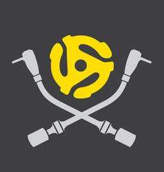 Vinyl record dj logo vector