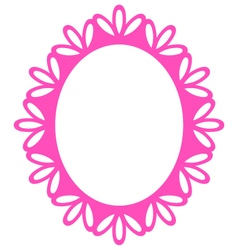 Beautiful Picture Frame - Luxury Pink vector image vector image