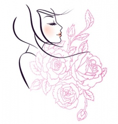 beauty and fashion vector image vector image