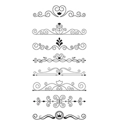 Curve line designs elements and page decoration vector image