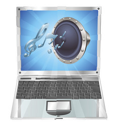 speaker icon laptop concept vector image vector image