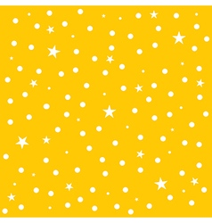 Star Polka Dot Yellow Background vector image vector image