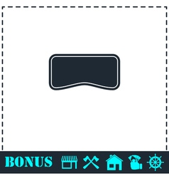 Swim mask icon flat vector image vector image
