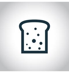 Toast black flat icon vector image