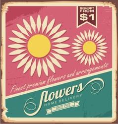 Vintage florist shop sign vector image