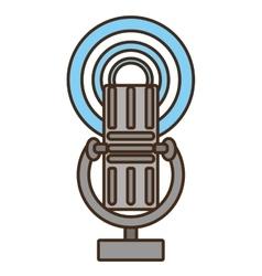 cartoon vintage microphone vector image vector image