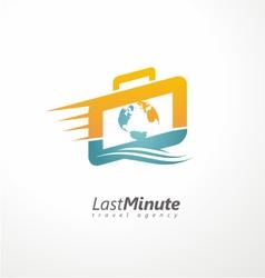 Creative logo design concept for travel agency vector image vector image