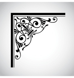 decorative vintage design element 4 vector image vector image