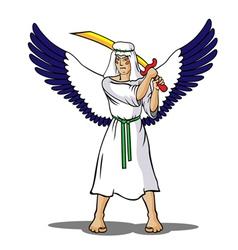 angel-soldier vector image