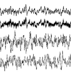Black music sound waves EPS 10 vector image vector image