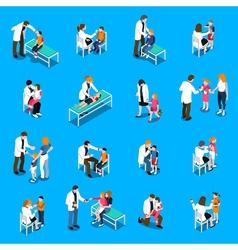 Child Diseases Isometric Icons Set vector image