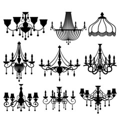 classic crystal glass antique elegant chandeliers vector image vector image