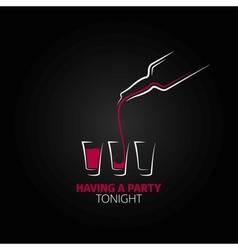 cocktail shot glass bottle design background vector image vector image