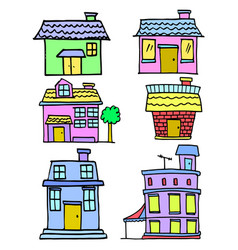 house colorful cartoon vector image