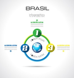 Modern BRASIL Infographic template with Flat UI vector image vector image