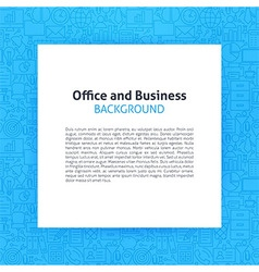 Paper over Office Business Line Art Background vector image