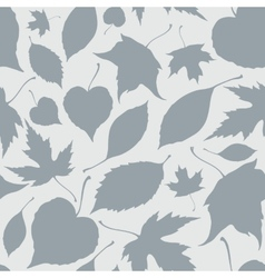 Seamless pattern with decorative falling leaves vector image
