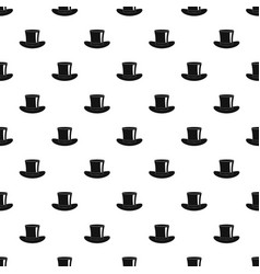 silk hat pattern vector image