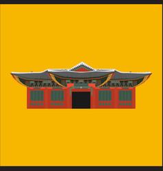 south korea country design flat cartoon elements vector image vector image