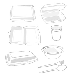 Styrofoam vector image