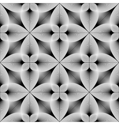 Design seamless monochrome flower pattern vector image