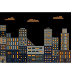 Evening city vector image vector image