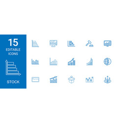 15 stock icons vector