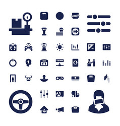 37 control icons vector