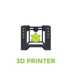 3d printer vector image