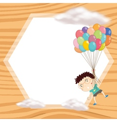 a boy and window vector image